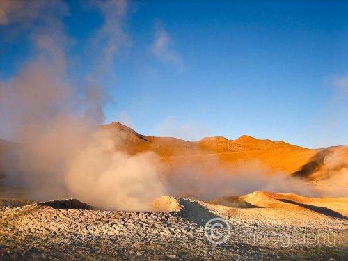 Sol de Mañana geyser basin