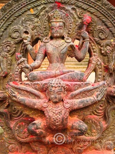 Vishnu riding Garuda